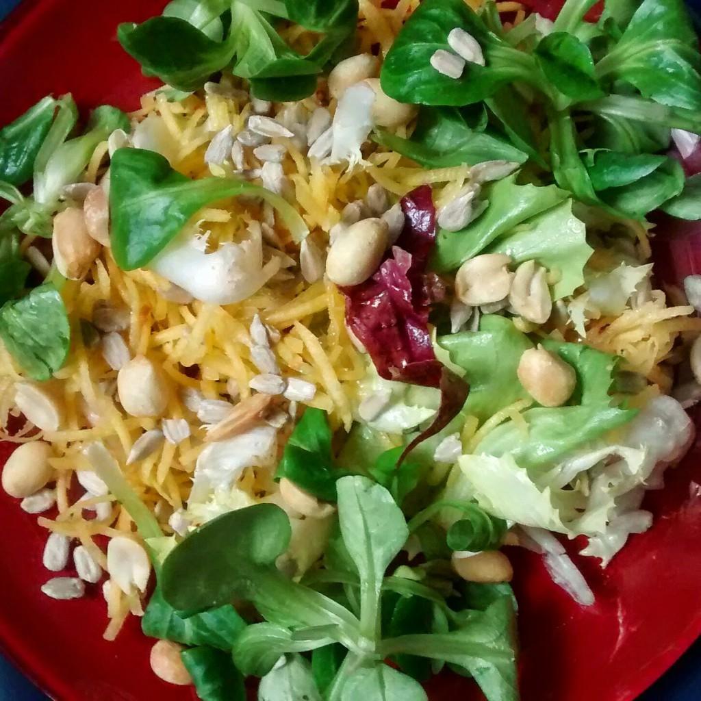 salade carotte jaune cacaouètes graines tde tournesol