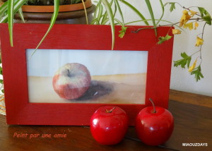 peinture pomme