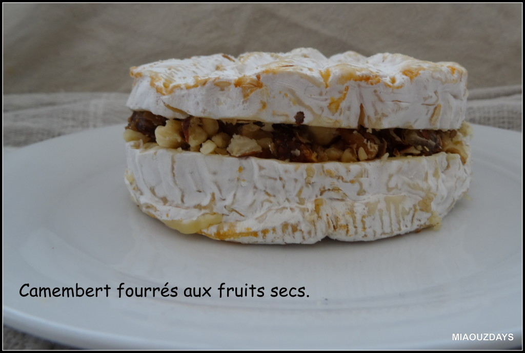 Camembert fourré aux fruits secs