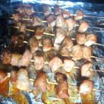 brochettes porc mariné dans le four