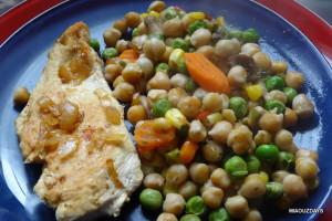 escalope panée poélée de legumes