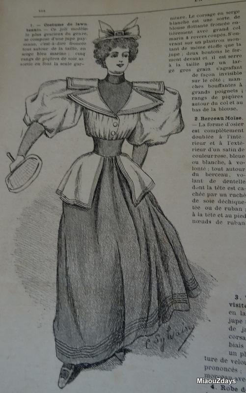 robe de lawn tennis 1894